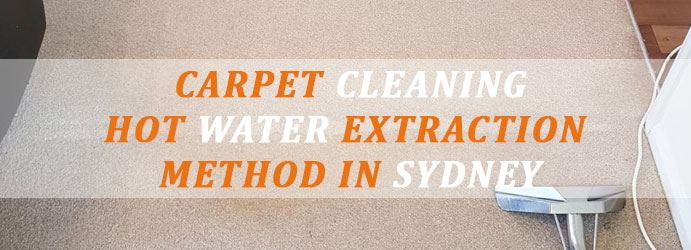 Carpet Cleaning Hot Water Extraction Method in Sydney