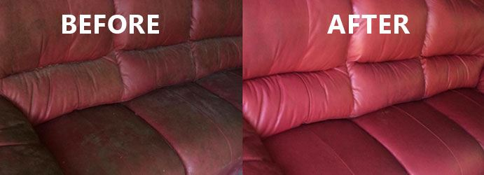 Leather Couch Before and After