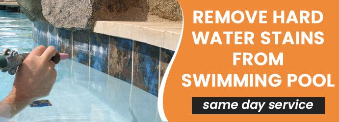 How to remove hard water stains from swimming pool?